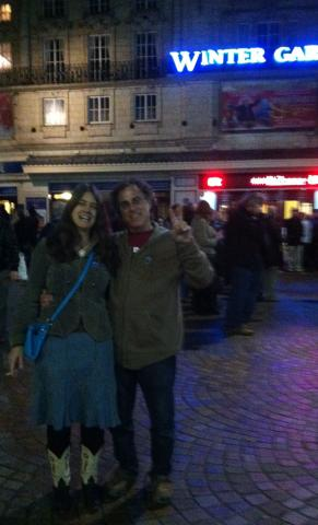 Me n Mr. Jinx outside the Winter Gardens after the show
