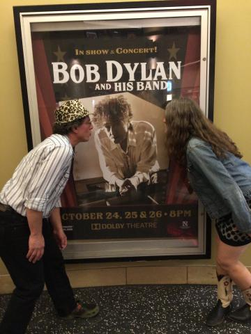 Dolby Theater - Giving Bob a kiss